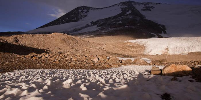 View from my base camp towards the peak of Chamser Kangri